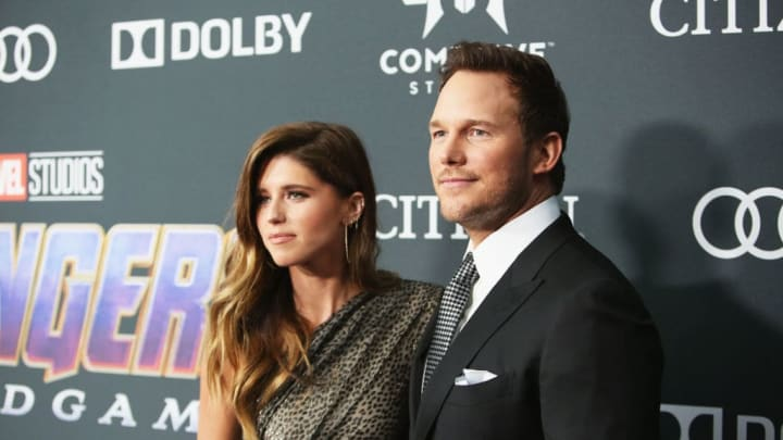 LOS ANGELES, CA - APRIL 22:  (L-R) Katherine Schwarzenegger and Chris Pratt attend the Los Angeles World Premiere of Marvel Studios' 'Avengers: Endgame' at the Los Angeles Convention Center on April 23, 2019 in Los Angeles, California.  (Photo by Jesse Grant/Getty Images for Disney)