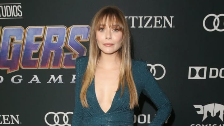 """LOS ANGELES, CA - APRIL 22:  Elizabeth Olsen attends the Los Angeles World Premiere of Marvel Studios' """"Avengers: Endgame"""" at the Los Angeles Convention Center on April 23, 2019 in Los Angeles, California.  (Photo by Jesse Grant/Getty Images for Disney)"""