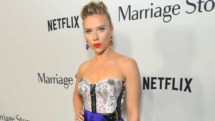 LOS ANGELES, CALIFORNIA - NOVEMBER 05: Scarlett Johansson attends the 'Marriage Story' Los Angeles Premiere at the Directors Guild on November 05, 2019 in Los Angeles, California. (Photo by Charley Gallay/Getty Images for Netflix)