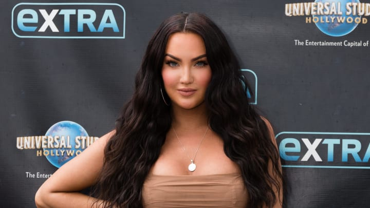 """UNIVERSAL CITY, CALIFORNIA - MAY 23: Natalie Halcro visits """"Extra"""" at Universal Studios Hollywood on May 23, 2019 in Universal City, California. (Photo by Noel Vasquez/Getty Images)"""
