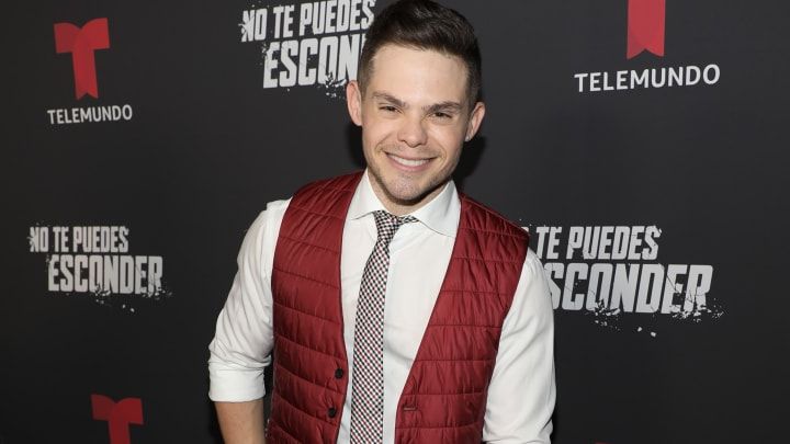 """DORAL, FL - SEPTEMBER 24:  Willy Martin is seen on the red carpet during the """"No Te Puedes Esconder"""" premiere at Telemundo Center on September 24, 2019 in Doral, Florida.  (Photo by Alexander Tamargo/Getty Images)"""