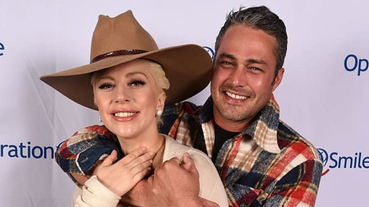 PARK CITY, UT - MARCH 12:  Lady Gaga and Taylor Kinney pose at Tupelo on March 12, 2016 in Park City, Utah.  (Photo by Fred Hayes/Getty Images for Operation Smile)