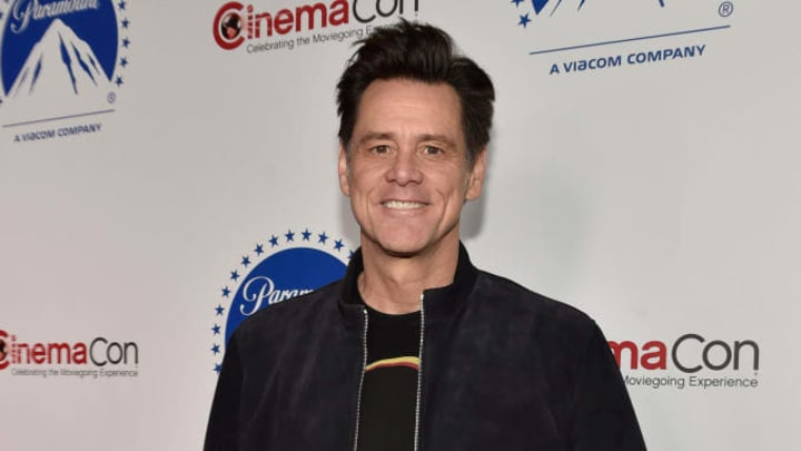 LAS VEGAS, NEVADA - APRIL 04:  Jim Carrey attends the Paramount Pictures CinemaCon® 2019 Presentation held at The Colosseum at Caesars Palace on April 04, 2019 in Las Vegas, Nevada.  (Photo by David Becker/Getty Images for Paramount Pictures)
