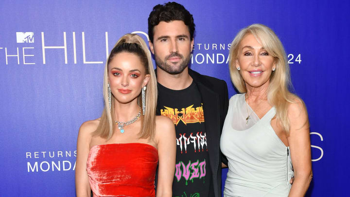"LOS ANGELES, CALIFORNIA - JUNE 19: Kaitlynn Carter Jenner, Brody Jenner and Linda Thompson attend the premiere of MTV's ""The Hills: New Beginnings"" at Liaison on June 19, 2019 in Los Angeles, California. (Photo by Amy Sussman/Getty Images)"