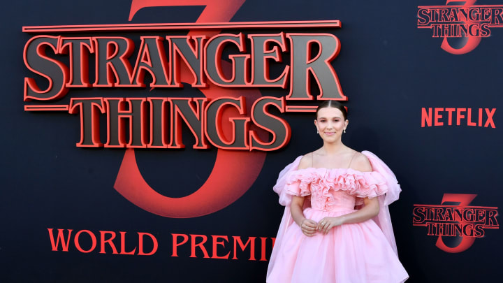 """SANTA MONICA, CALIFORNIA - JUNE 28: Millie Bobby Brown attends the premiere of Netflix's """"Stranger Things"""" Season 3 on June 28, 2019 in Santa Monica, California. (Photo by Amy Sussman/Getty Images)"""