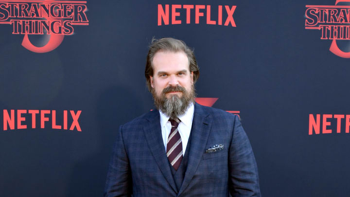 "SANTA MONICA, CALIFORNIA - JUNE 28: David Harbour attends the premiere of Netflix's ""Stranger Things"" Season 3 on June 28, 2019 in Santa Monica, California. (Photo by Amy Sussman/Getty Images)"