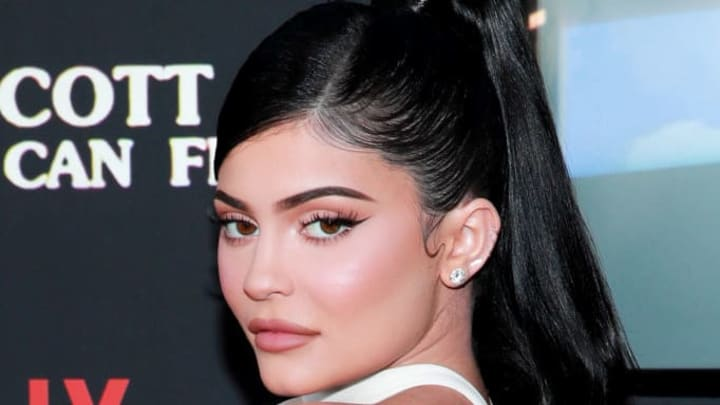 """SANTA MONICA, CALIFORNIA - AUGUST 27: Kylie Jenner attends the premiere of Netflix's """"Travis Scott: Look Mom I Can Fly"""" at Barker Hangar  on August 27, 2019 in Santa Monica, California. (Photo by Rich Fury/Getty Images)"""