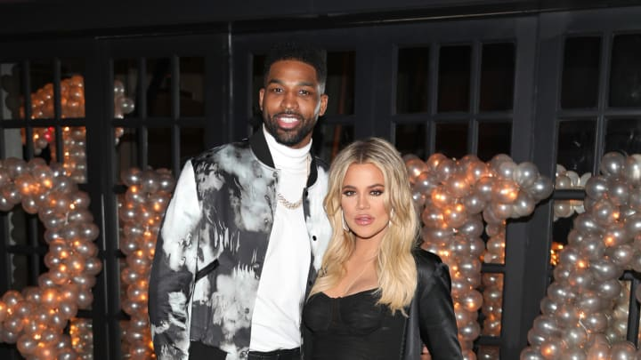 Khloe Kardashian and Tristan Thompson at his birthday party at Beauty & Essex