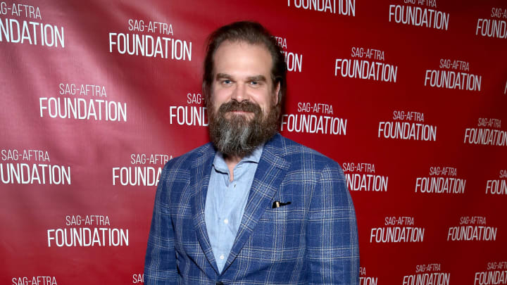"""LOS ANGELES, CALIFORNIA - JUNE 29:  David Harbour attends SAG-AFTRA Foundation's sneak preview of """"Stranger Things 3"""" on June 29, 2019 in Los Angeles, California. (Photo by Randy Shropshire/Getty Images for SAG-AFTRA Foundation)"""