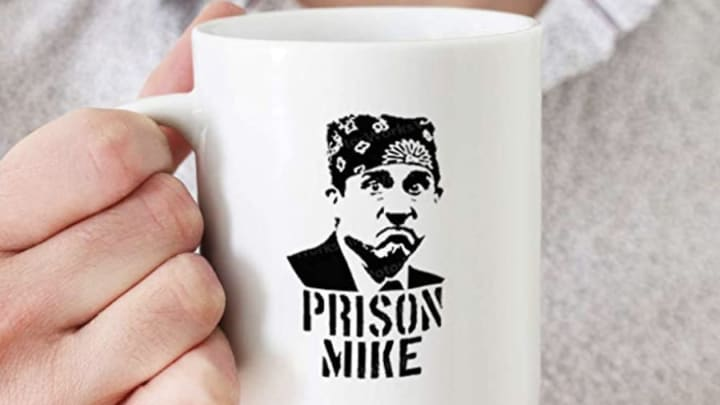 Prison Mike mug from 'The Office' available on Amazon