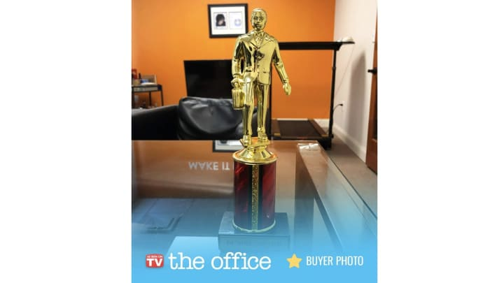 Dundie award from 'The Office' available on Amazon
