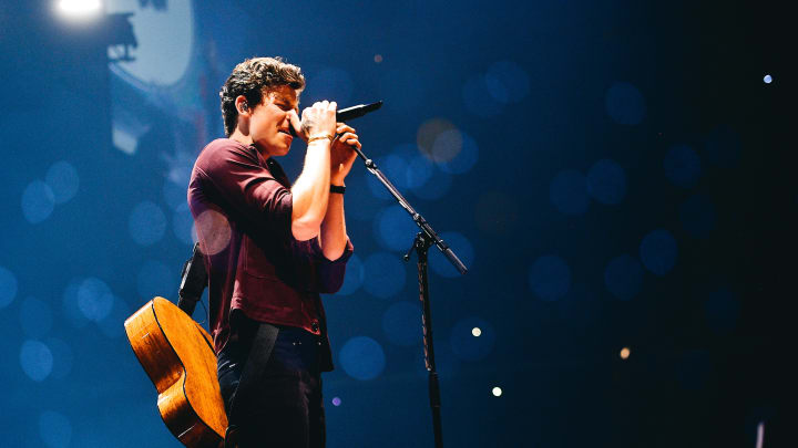 LOS ANGELES, CALIFORNIA - JULY 05: Shawn Mendes performs in concert in Los Angeles, CA at Staples Center on July 05, 2019 in Los Angeles, California. (Photo by Matt Winkelmeyer/Getty Images)