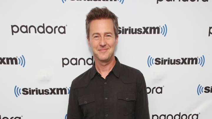 """NEW YORK, NEW YORK - OCTOBER 21:  Actor and Director Edward Norton attends SiriusXM's Town Hall with the cast of """"Motherless Brooklyn"""" on October 21, 2019 in New York City. (Photo by Astrid Stawiarz/Getty Images for SiriusXM)"""