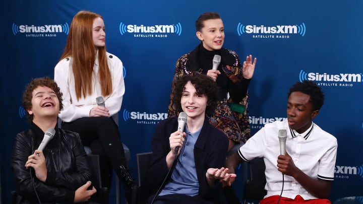 NEW YORK, NY - NOVEMBER 01:  (Clockwise from top left) Actors Sadie Sink, Millie Bobby Brown, Caleb McLaughlin, Finn Wolfhard and Gaten Matarazzo attend SiriusXM's 'Town Hall' cast of Stranger Things on SiriusXM's Entertainment Weekly Radio on November 1, 2017 in New York City.  (Photo by Astrid Stawiarz/Getty Images for SiriusXM)