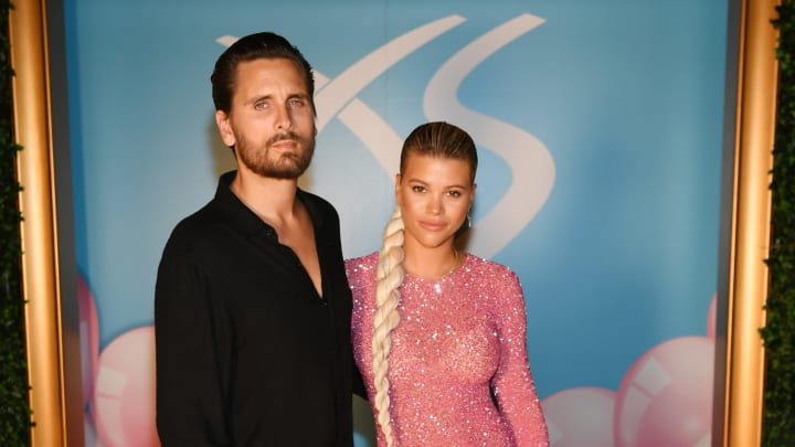 LAS VEGAS, NEVADA - AUGUST 24: Scott Disick and Sofia Richie arrive at Sophia Richie's 21st birthday celebration at XS Nightclub at Wynn Las Vegas on August 24, 2019 in Las Vegas, Nevada. (Photo by Denise Truscello/Getty Images for Wynn Nightlife)