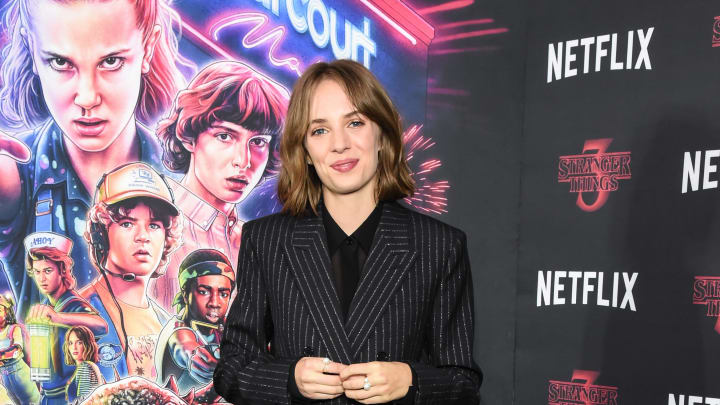 "NEW YORK, NEW YORK - NOVEMBER 11: Maya Hawke attends the New York Screening of ""Stranger Things"" Season 3 at DGA Theater on November 11, 2019 in New York City. (Photo by Daniel Zuchnik/Getty Images)"