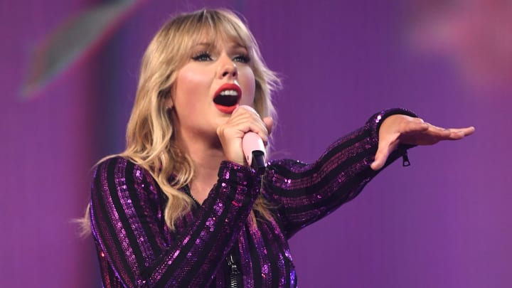 NEW YORK, NEW YORK - JULY 10: Taylor Swift performs onstage as Taylor Swift, Dua Lipa, SZA and Becky G perform at The Prime Day concert, presented by Amazon Music at on July 10, 2019 at Hammerstein Ballroom in New York City. (Photo by Kevin Mazur/Getty Images for Amazon )