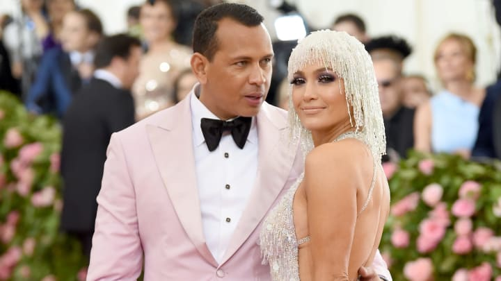 NEW YORK, NEW YORK - MAY 06: Alex Rodriquez and Jennifer Lopez attend The 2019 Met Gala Celebrating Camp: Notes on Fashion at Metropolitan Museum of Art on May 06, 2019 in New York City. (Photo by Dimitrios Kambouris/Getty Images for The Met Museum/Vogue)