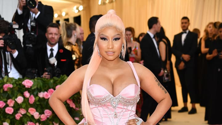 NEW YORK, NEW YORK - MAY 06: Nicki Minaj attends The 2019 Met Gala Celebrating Camp: Notes on Fashion at Metropolitan Museum of Art on May 06, 2019 in New York City. (Photo by Dimitrios Kambouris/Getty Images for The Met Museum/Vogue)