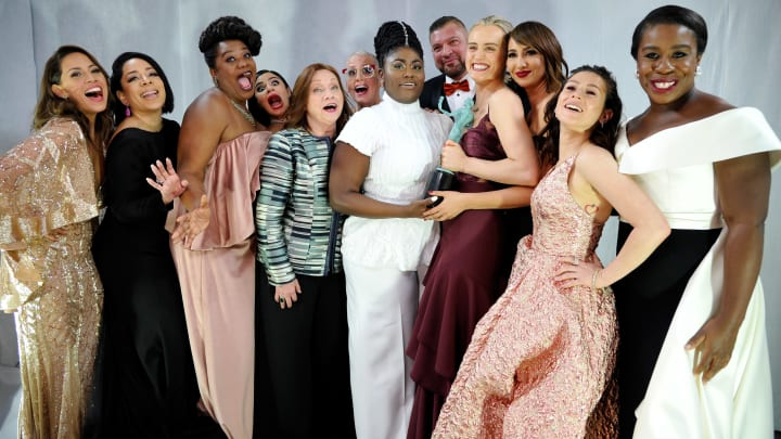 LOS ANGELES, CA - JANUARY 29:  The cast of Orange is the New Black celebrates backstage at The 23rd Annual Screen Actors Guild Awards at The Shrine Auditorium on January 29, 2017 in Los Angeles, California. 26592_018  (Photo by John Sciulli/Getty Images for TNT)