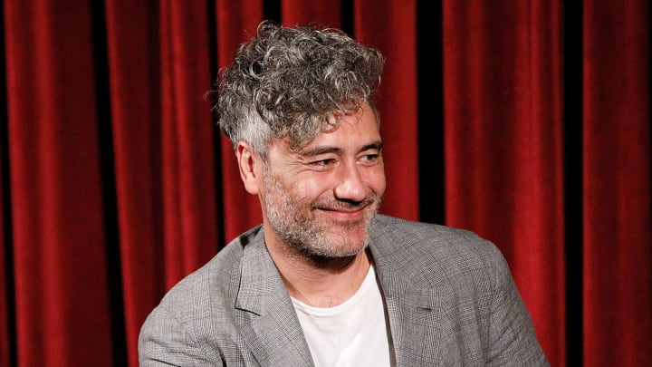 NEW YORK, NY - OCTOBER 17:  Writer, director and producer Taika Waititi on stage during The Academy of Motion Pictures Arts and Sciences official Academy screening of JoJo Rabbit at the MoMA Celeste Bartos Theater on October 17, 2019 in New York City.  (Photo by Lars Niki/Getty Images for The Academy Of Motion Pictures Arts & Sciences )