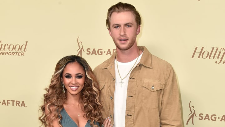 BEVERLY HILLS, CA - SEPTEMBER 14:  Vanessa Morgan (L) and Michael Kopech attend The Hollywood Reporter and SAG-AFTRA Annual Nominees Night to celebrate Emmy Award contenders at Avra Beverly Hills Estiatorio on September 14, 2018 in Beverly Hills, California.  (Photo by Alberto E. Rodriguez/Getty Images)