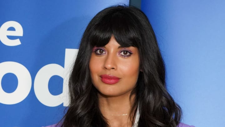 "LOS ANGELES, CALIFORNIA - JUNE 17: Jameela Jamil attends Universal Television's ""The Good Place"" FYC at UCB Sunset Theater on June 17, 2019 in Los Angeles, California. (Photo by Rachel Luna/Getty Images)"