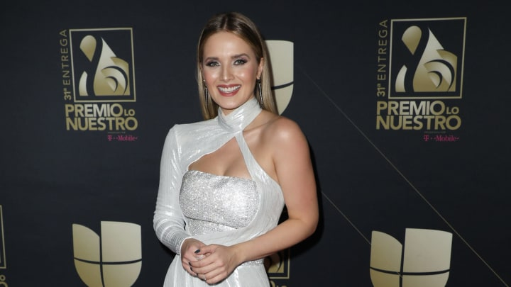 MIAMI, FL - FEBRUARY 21:  Kimberly dos Ramos poses in the press room at Univision's 31st Edition Of Premio Lo Nuestro A La Musica Latina at American Airlines Arena on February 21, 2019 in Miami, Florida.  (Photo by Alexander Tamargo/Getty Images)