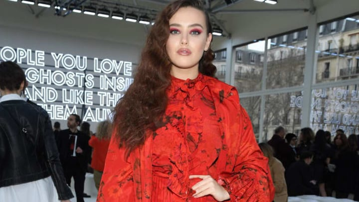 PARIS, FRANCE - MARCH 03: Katherine Langford attends the Valentino show as part of the Paris Fashion Week Womenswear Fall/Winter 2019/2020  on March 03, 2019 in Paris, France. (Photo by Pascal Le Segretain/Getty Images)