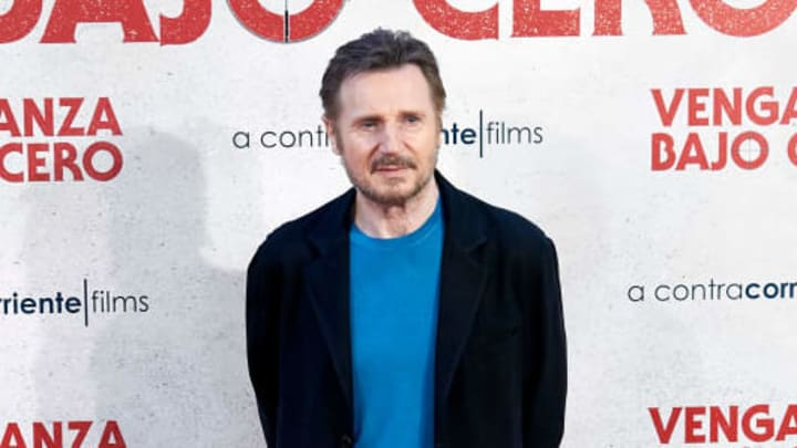 MADRID, SPAIN - JULY 16: Actor Liam Neeson attends 'Venganza Bajo Cero' photocall at the Villamagna Hotel on July 16, 2019 in Madrid, Spain. (Photo by Carlos Alvarez/Getty Images)