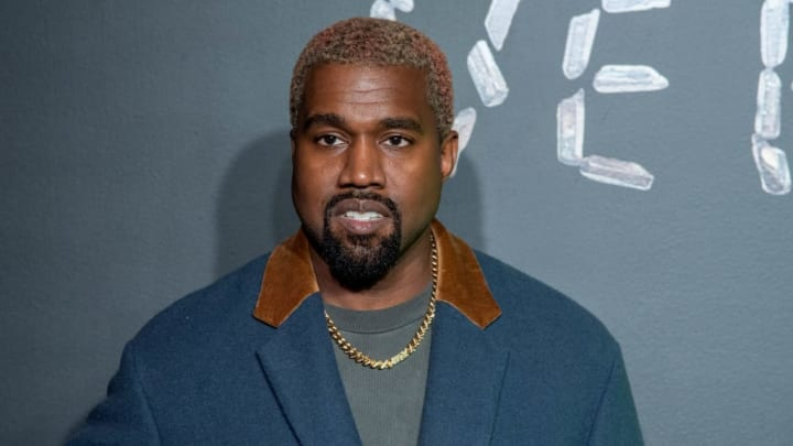 NEW YORK, NEW YORK - DECEMBER 02: Kanye West attends the the Versace fall 2019 fashion show at the American Stock Exchange Building in lower Manhattan on December 02, 2018 in New York City. (Photo by Roy Rochlin/Getty Images)
