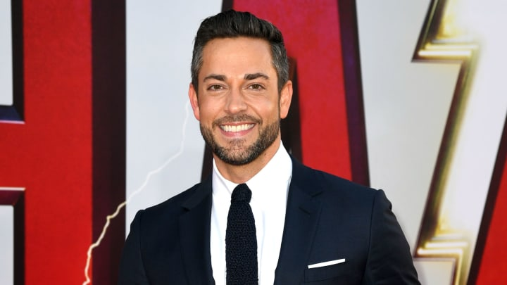 """HOLLYWOOD, CALIFORNIA - MARCH 28: Zachary Levi arrives at the world premiere of Warner Bros. Pictures and New Line Cinema's """"SHAZAM"""" at TCL Chinese Theatre on March 28, 2019 in Hollywood, California. (Photo by Kevin Winter/Getty Images)"""
