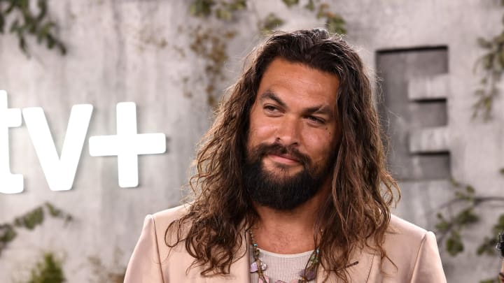 "LOS ANGELES, CALIFORNIA - OCTOBER 21: Jason Momoa attends the World Premiere Of Apple TV+'s ""See"" at Fox Village Theater on October 21, 2019 in Los Angeles, California. (Photo by Frazer Harrison/Getty Images)"