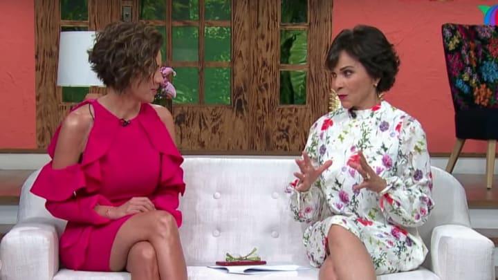 Ingrid Coronado y Pati Chapoy en el foro de Ventaneando