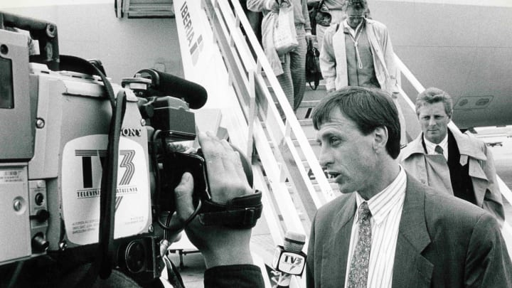 Cruyff managed Barcelona in the early 90s