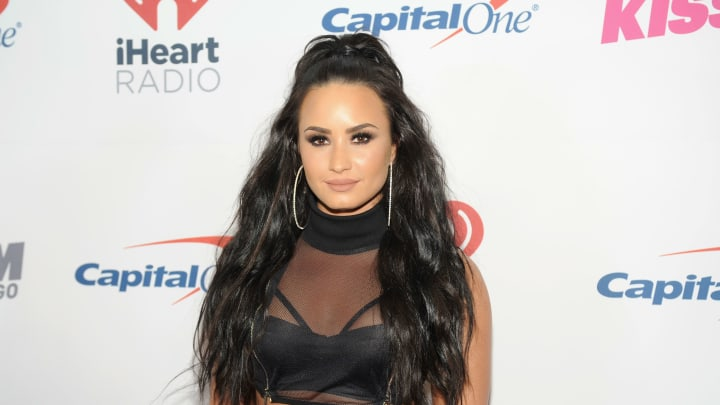 ROSEMONT, IL - DECEMBER 13:  Demi Lovato attends 103.5 KISS FM's Jingle Ball 2017 at Allstate Arena on December 13, 2017 in Rosemont, Illinois.  (Photo by Timothy Hiatt/Getty Images for iHeartMedia )