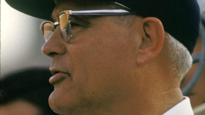 Iconic Ohio State Buckeyes head football coach Woody Hayes