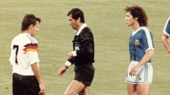 Diego Maradona, Juan Simon, Jurgen Klinsmann, Pedro Monzon, Pierre Littbarski, Edgardo Codesal Mendez, Pedro Troglio