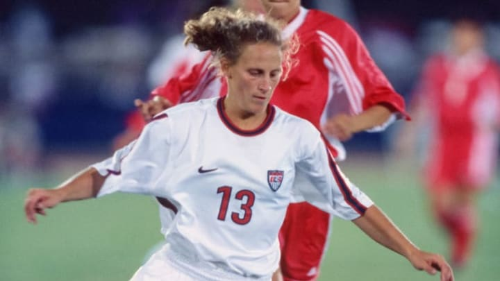 Kristine Lilly in 1998 with the United States national team