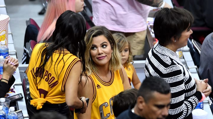 CLEVELAND, OH - JUNE 09:  TV personality Khloe Kardashian attends Game 4 of the 2017 NBA Finals between the Golden State Warriors and the Cleveland Cavaliers at Quicken Loans Arena on June 9, 2017 in Cleveland, Ohio. NOTE TO USER: User expressly acknowledges and agrees that, by downloading and or using this photograph, User is consenting to the terms and conditions of the Getty Images License Agreement.  (Photo by Jason Miller/Getty Images)