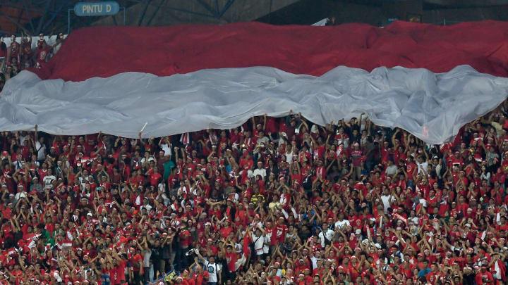 Ilustrasi suporter Indonesia