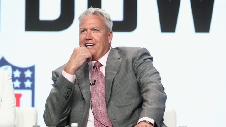 BEVERLY HILLS, CA - JULY 26:  Former NFL coach & ESPN analyst Rex Ryan of 'ESPN's Sunday's NFL Countdown' speaks onstage during the ESPN portion of the 2017 Summer Television Critics Association Press Tour at The Beverly Hilton Hotel on July 26, 2017 in Beverly Hills, California.  (Photo by Frederick M. Brown/Getty Images)