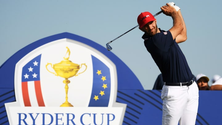 Dustin Johnson at the 2018 Ryder Cup - Singles Matches.