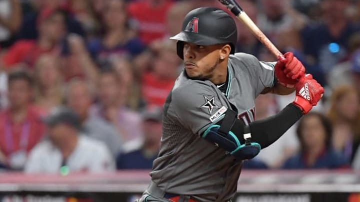 CLEVELAND, OHIO - JULY 09: Ketel Marte #4 of the Arizona Diamondbacks during the 2019 MLB All-Star Game at Progressive Field on July 09, 2019 in Cleveland, Ohio. (Photo by Jason Miller/Getty Images)