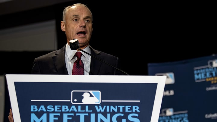 Rob Manfred at the 2019 Major League Baseball Winter Meetings