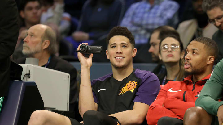 Damian Lillard and Devin Booker at the 2019 NBA 3-Point Contest