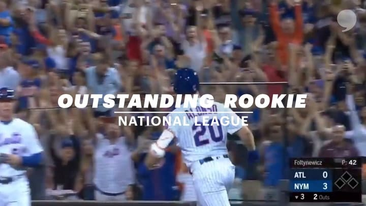 2019 NL Outstanding Rookie Pete Alonso
