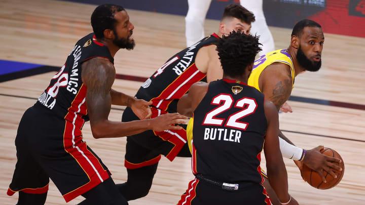 LeBron James versus the Miami Heat.
