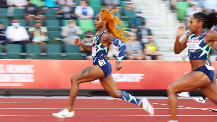 Sha'Carri Richardson at the US Olympic Trials.