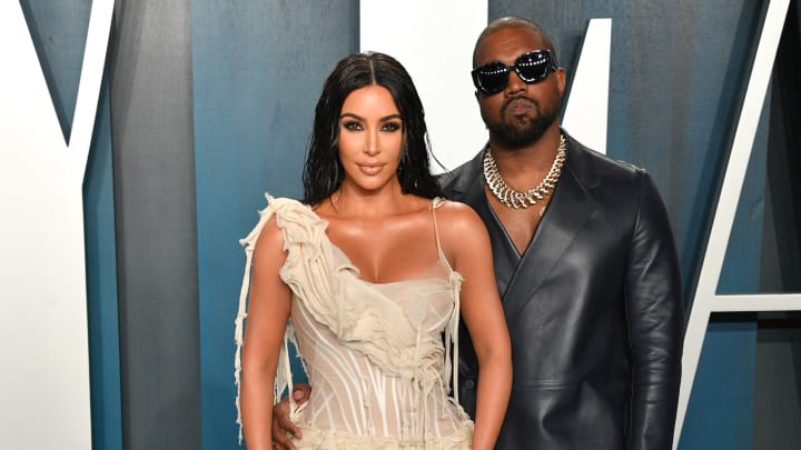 Kim Kardashian and Kanye West, 2020 Vanity Fair Oscar Party Hosted By Radhika Jones - Arrivals